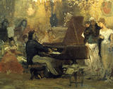 AKG Anonymous - Chopin at the salon on Prince Anton Radziwill