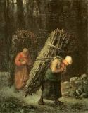 Jean-François Millet - Peasant Women with Brushwood, c.1858