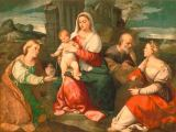 Palma Vecchio - Mary with the Child, Saint Joesph and two female Saints