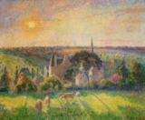 Camille Pissarro - Landscape near Eragny: church and farmstead