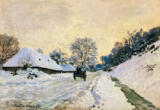 Claude Monet - The Cart. Route in the Snow, near Honfleur