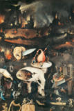 Hieronymus Bosch - The Garden of Earthly Delights, Hell, right wing of triptych, detail