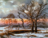 Johann Christian  Clausen Dahl - Danish Winter Landscape