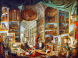 Giovanni Paolo Pannini - Gallery displaying views of ancient Rome