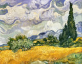 Vincent van Gogh - Cornfield with Cypresses, Saint-Remy, late June 1889