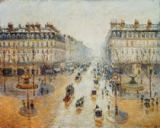 Camille Pissarro - Avenue de l'Opera, Snow, Morning