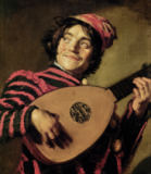 Frans Hals - Young Musician with Lute, looking to the left