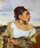 Eugène Delacroix - Young Orphan at the Cemetery