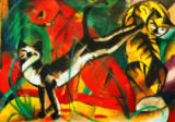 Franz Marc - Three cats