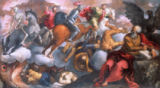 Jacopo Palma  il Giovane - John sees the Four Riders of the Apocalypse