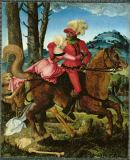 Hans Baldung-Grien - Rider with Woman and Death