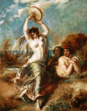 William Etty - Bacchant with Tambourine