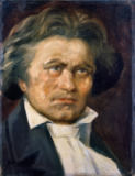 Alfred Zimmermann - Beethoven / Painting by A.Zimmermann