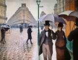 Gustave Caillebotte - Street in Paris in the rain