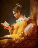 Jean-Honore Fragonard - Reading Girl