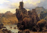 Karl Friedrich Lessing - Castle on a rock