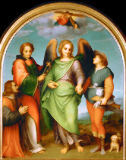 Andrea del Sarto - Archangel Raphael with Tobias, Saint Leonard and a donor