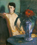 Edgar Degas - Woman with Chinese vase