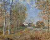 Alfred Sisley - Road at a forest fringe in the forest of Fontainebleau near Moretsur-Loing
