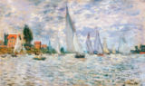 Claude Monet - Sailing boats, regatta in Argenteuil