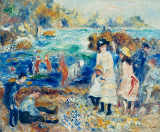 Pierre Auguste Renoir - Women and children on the beach