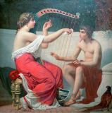 Auguste Hirsch - Calliope teaches Music to the young Orpheus