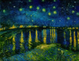 Vincent van Gogh - Starry Sky over the Rhone
