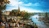 Jan Brueghel der Ältere - Village fair in Schelle, 1614. Oak, 92 x