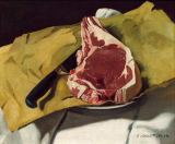 Felix Edouard Vallotton - Still life: Entrecote on Yellow Paper