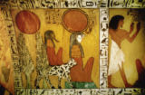 Ägyptische Malerei - Sun God Re /Tomb of Sennedjem/ C13th BC