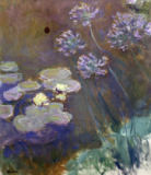Claude Monet - Waterlillies and Agapanthus