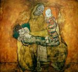 Egon Schiele - Mother and two children II