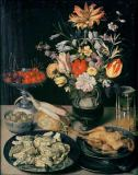Georg Flegel - Still Life with Flowers and Eatables