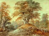 Thomas Gainsborough - Study of Beech Trees at Foxley