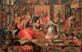 Joos Goemare - Kitchen scene with Christ at the house of Martha and Mary