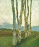 Paula Modersohn-Becker - Birch Trunks