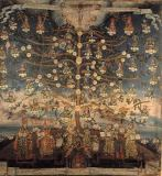 kolonialspanische Malerei - Tree of Life of the Franciscans