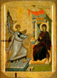 Ikonenmalerei - Annunciation / Icon / Byz.-Serb./ C14th