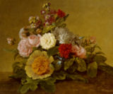 Georg Friedrich Kersting - Still Life with Flowers