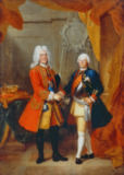 Louis de Silvestre - Augustus II and Frederick William I of Prussia
