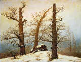 Caspar David Friedrich - Megalithic grave in the snow