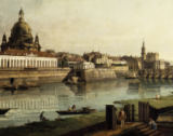 Bernardo Bellotto - Dresden seen from the right bank of the river Elbe