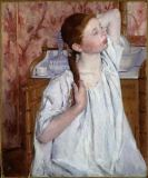 Mary Stevenson Cassatt - Girl Arranging Her Hair, 1886