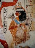 Ägyptische Malerei - Nebamun's wife / Egyptian wall painting