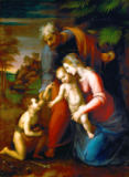Raphael - The Holy Family with the infant Saint John