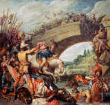 Pieter Lastmann - Battle between Constantin and Maxentius at the Milvian Bride