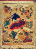 AKG Anonymous - Birth of Christ / Russian Icon / C15th