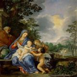 Ciro Ferri - Rest during the flight to Egypt. Canvas,