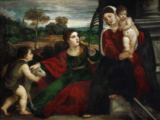 Tizian - Madonna and child with Saint Agnes and S
