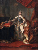 Alexej Petrowitsch Antropow - Portrait of Catherine II. in her Coronation Robes.